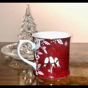 Starbucks 2010 Holiday Mug Doves &Holly By Rosanna